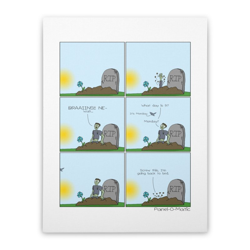 Print: What Day Is It? Home Stretched Canvas by panelomatic's Artist Shop