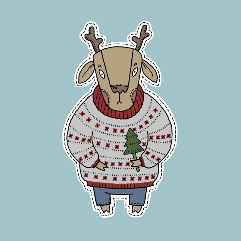Christmas Deer Men's T-Shirt by Crazy Pangolin's Artist Shop