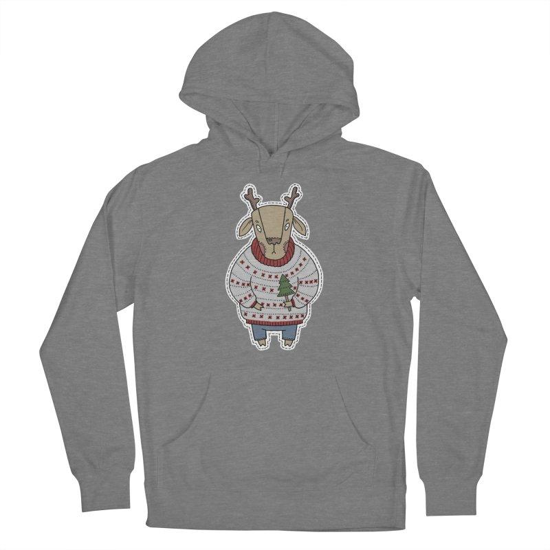 Christmas Deer Women's Pullover Hoody by Crazy Pangolin's Artist Shop