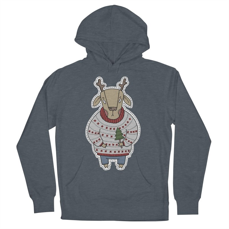 Christmas Deer Women's Pullover Hoody by Crazy Pangolin's Artist Shop