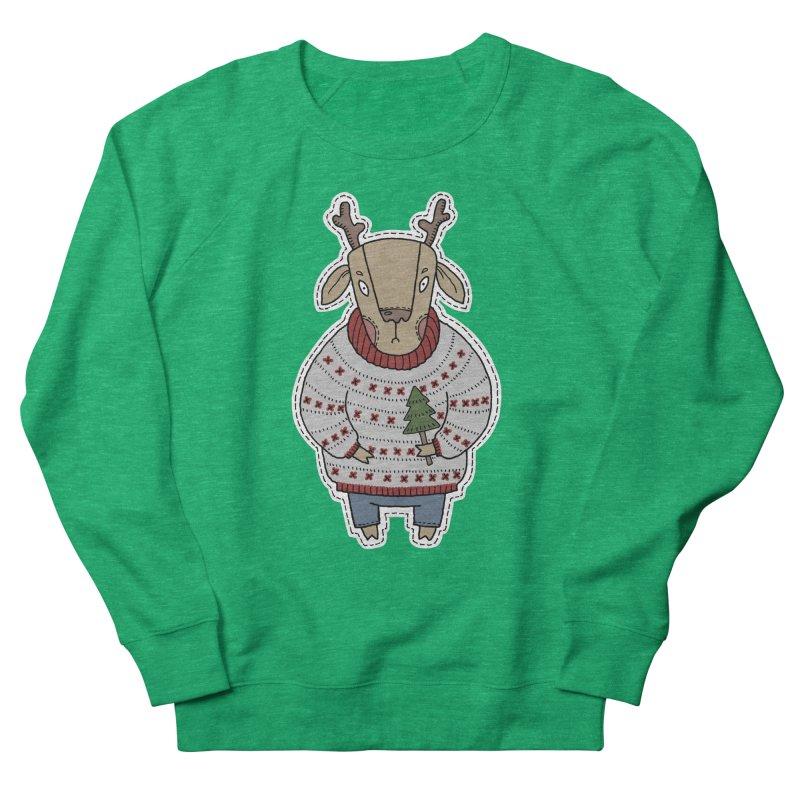 Christmas Deer Women's Sweatshirt by Crazy Pangolin's Artist Shop