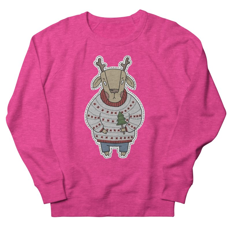 Christmas Deer Men's Sweatshirt by Crazy Pangolin's Artist Shop