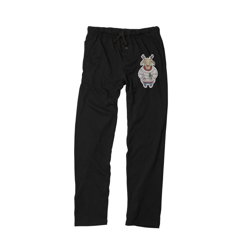 Christmas Deer Women's Lounge Pants by Crazy Pangolin's Artist Shop