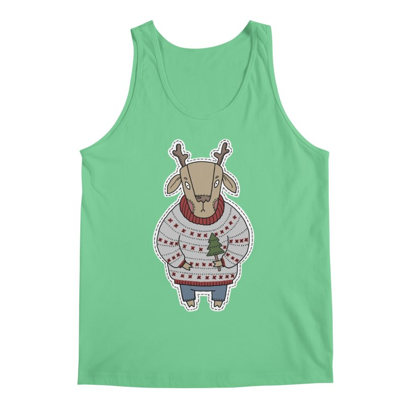 Christmas Deer Men's Regular Tank by Crazy Pangolin's Artist Shop