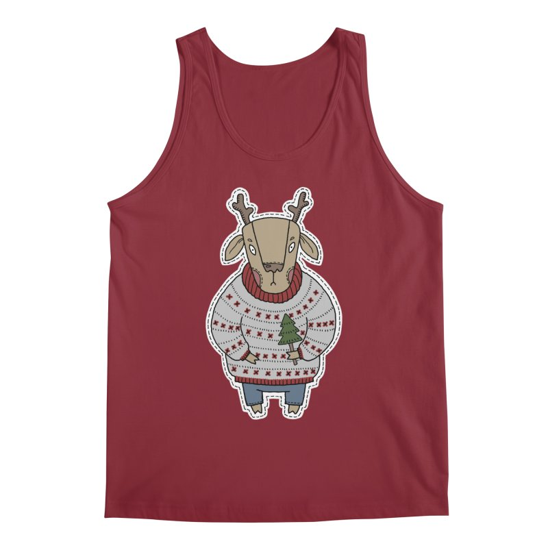 Christmas Deer Men's Tank by Crazy Pangolin's Artist Shop