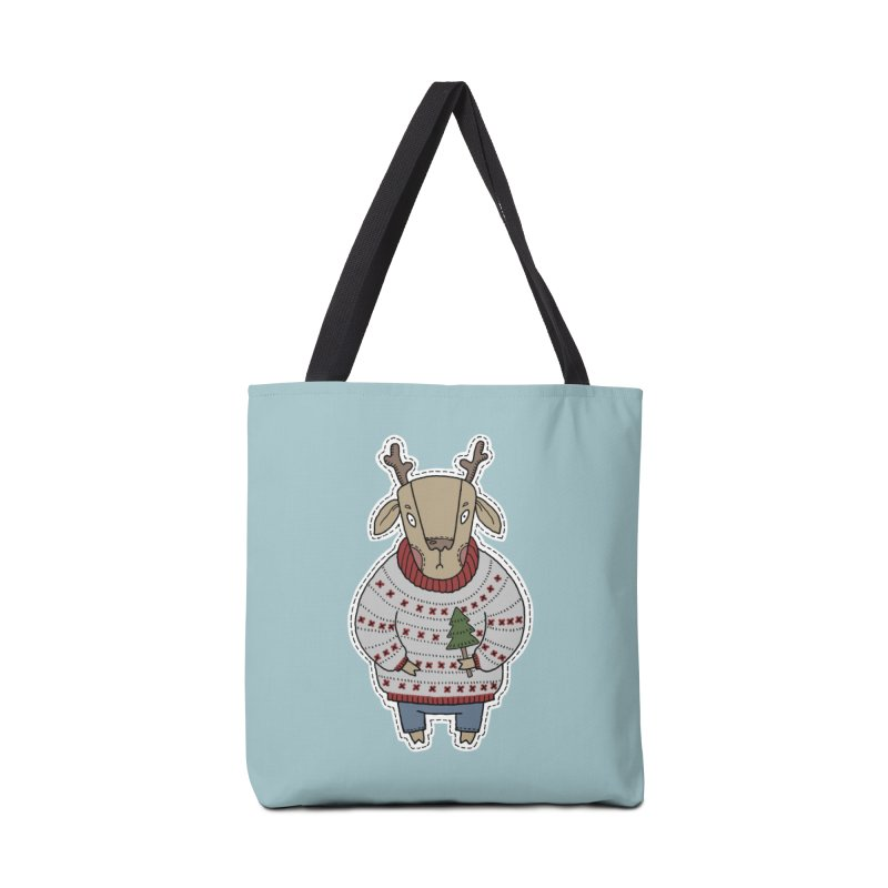Christmas Deer Accessories Bag by Crazy Pangolin's Artist Shop
