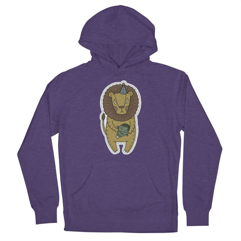 Circus Lion Women's French Terry Pullover Hoody by Crazy Pangolin's Artist Shop