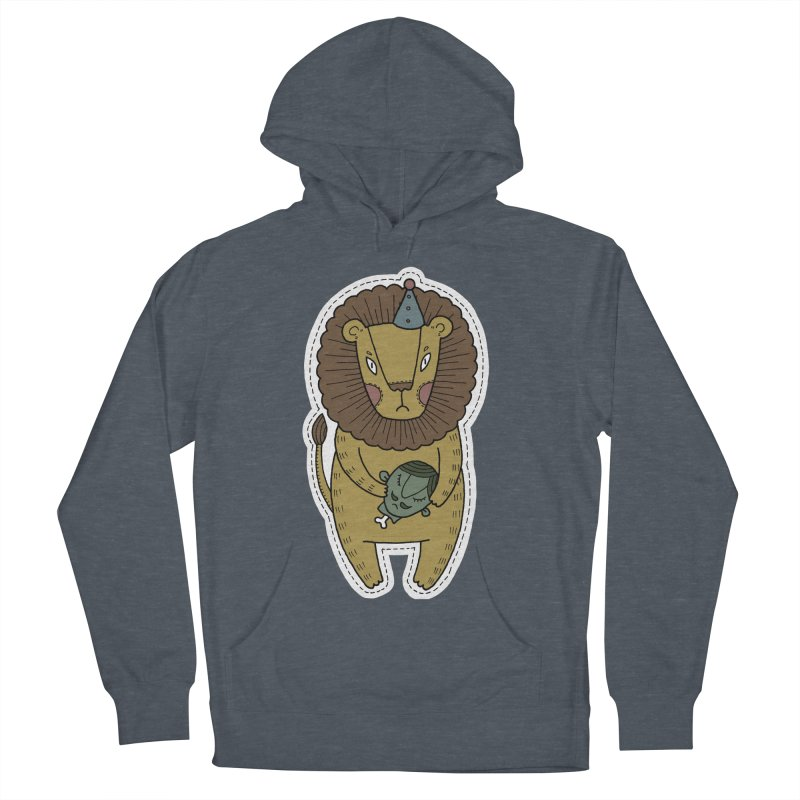Circus Lion Women's Pullover Hoody by Crazy Pangolin's Artist Shop