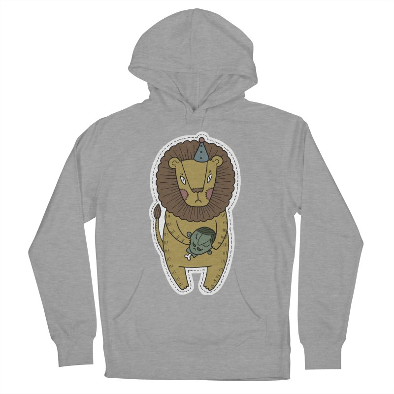 Circus Lion Men's French Terry Pullover Hoody by Crazy Pangolin's Artist Shop