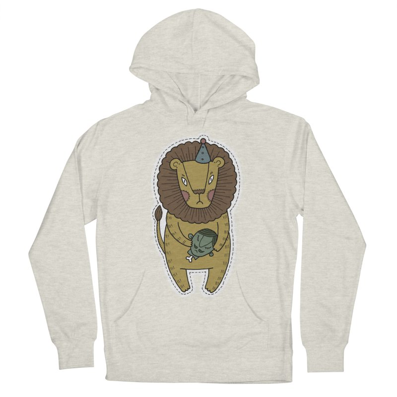 Circus Lion Men's Pullover Hoody by Crazy Pangolin's Artist Shop