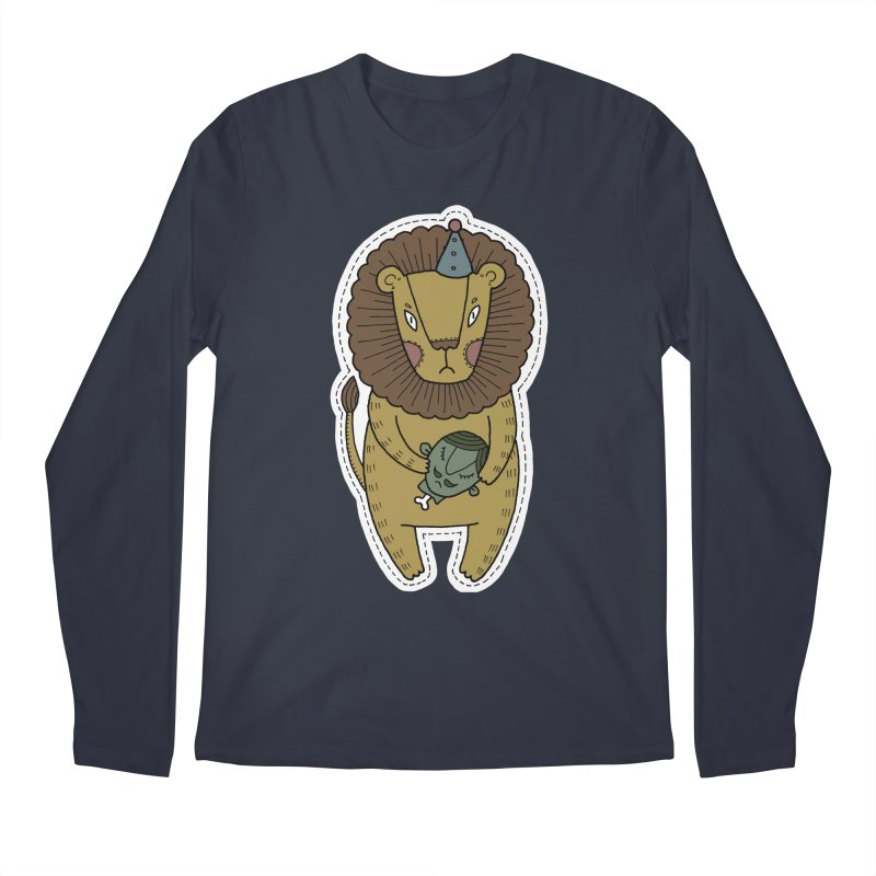 Circus Lion Men's Regular Longsleeve T-Shirt by Crazy Pangolin's Artist Shop