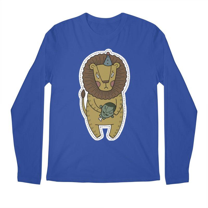 Circus Lion Men's Regular Longsleeve T-Shirt by Crazy Pangolin's Artist Shop