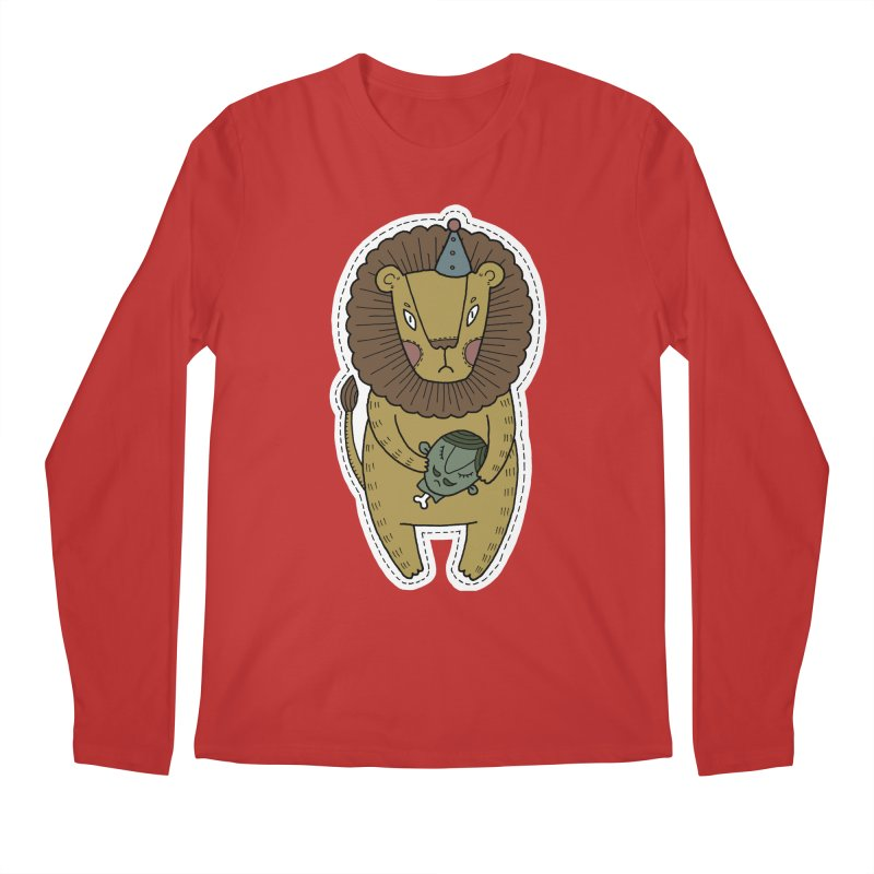 Circus Lion Men's Longsleeve T-Shirt by Crazy Pangolin's Artist Shop