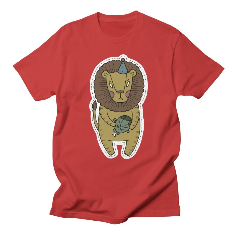 Circus Lion Women's Regular Unisex T-Shirt by Crazy Pangolin's Artist Shop