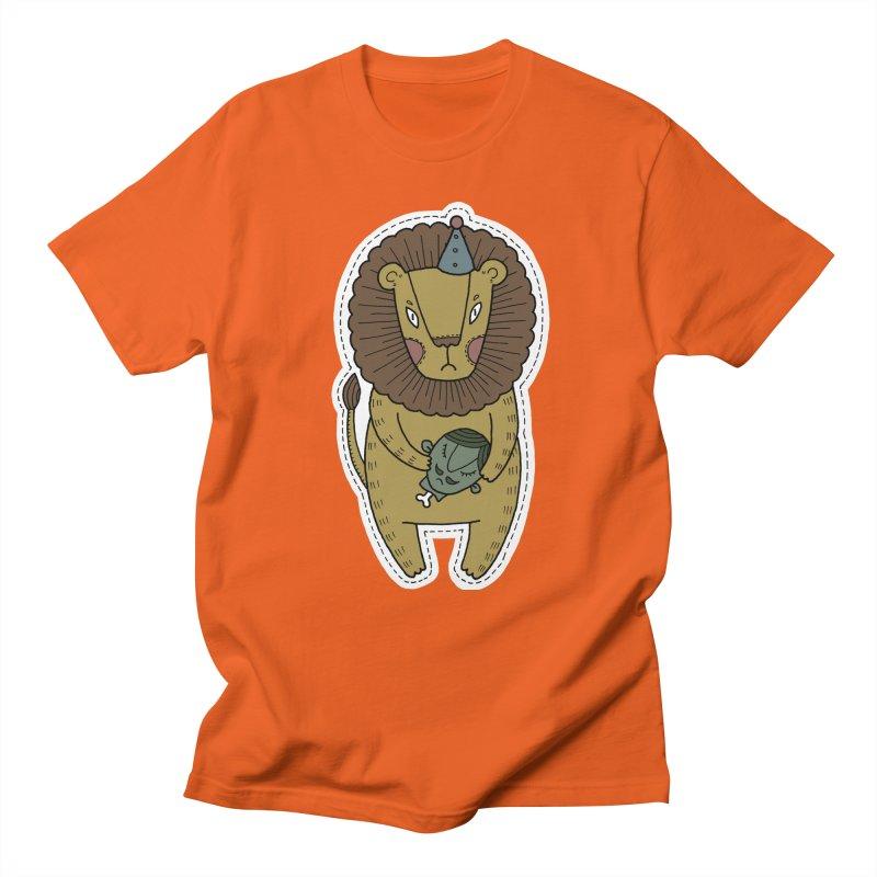 Circus Lion Men's Regular T-Shirt by Crazy Pangolin's Artist Shop