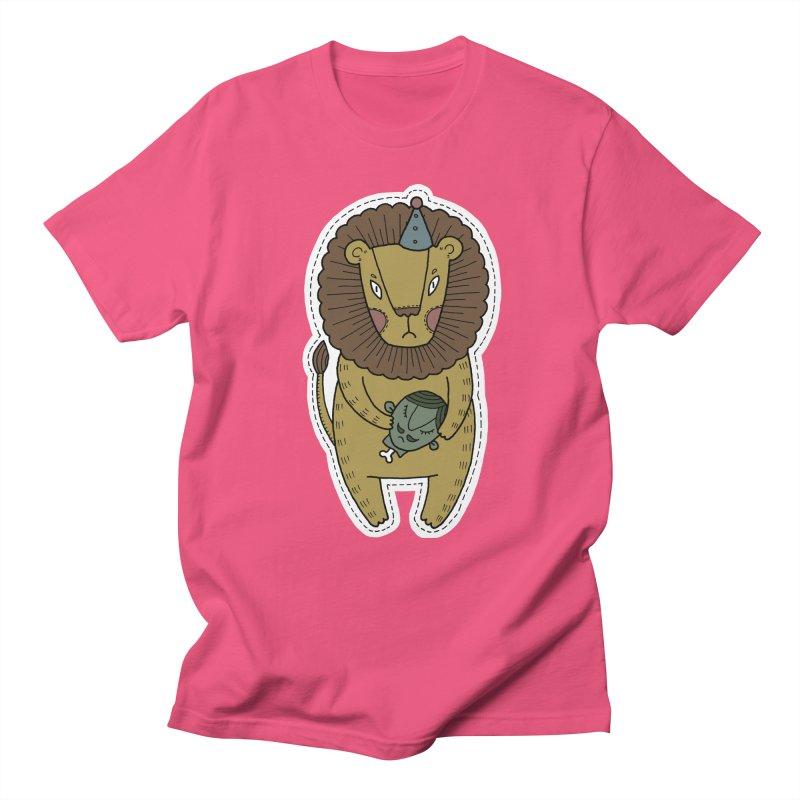 Circus Lion Women's Unisex T-Shirt by Crazy Pangolin's Artist Shop