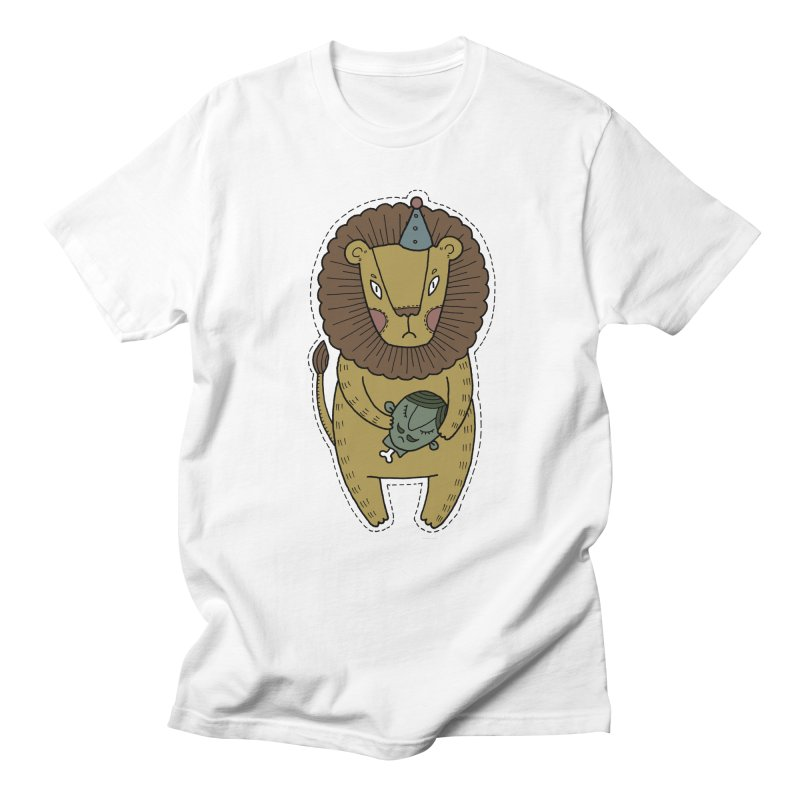 Circus Lion Men's Regular T-Shirt by Crazy Pangolin's Artist Shop
