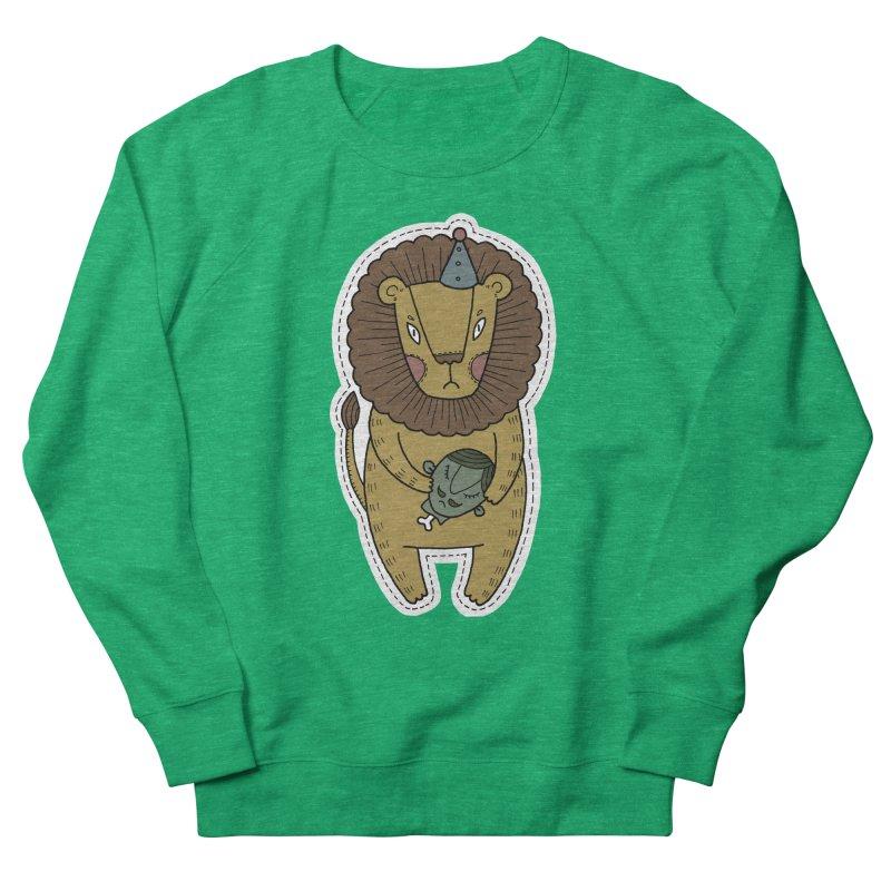 Circus Lion Women's French Terry Sweatshirt by Crazy Pangolin's Artist Shop