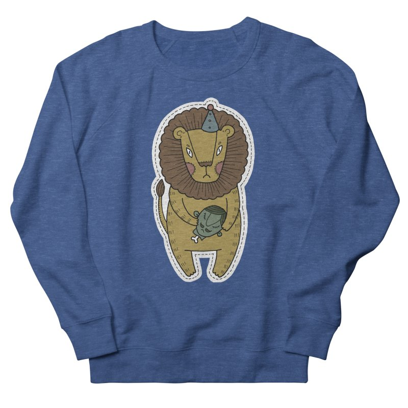 Circus Lion Women's French Terry Sweatshirt by Crazy Pangolin's Artist Shop