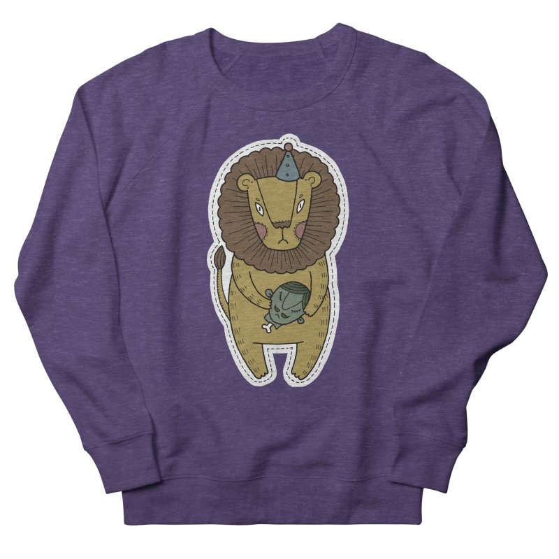 Circus Lion Men's Sweatshirt by Crazy Pangolin's Artist Shop