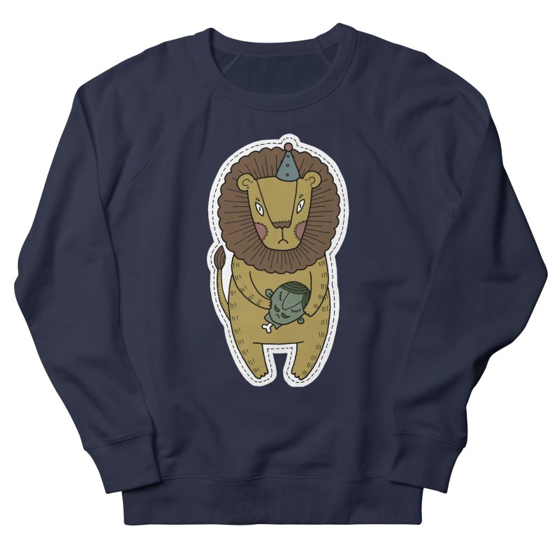 Circus Lion Men's French Terry Sweatshirt by Crazy Pangolin's Artist Shop