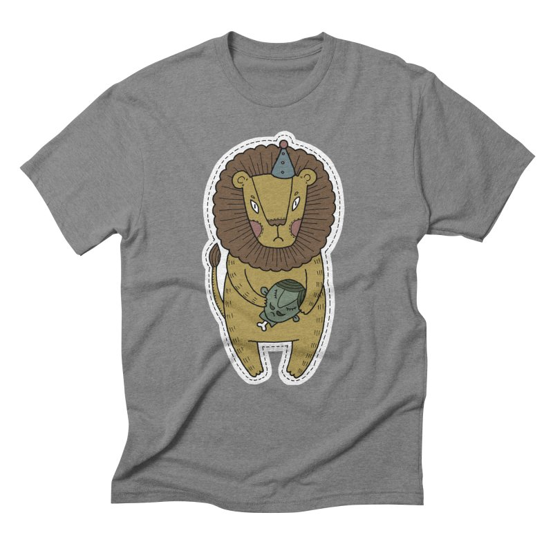 Circus Lion Men's Triblend T-Shirt by Crazy Pangolin's Artist Shop