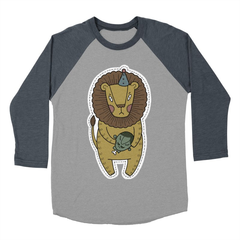 Circus Lion Women's Baseball Triblend Longsleeve T-Shirt by Crazy Pangolin's Artist Shop