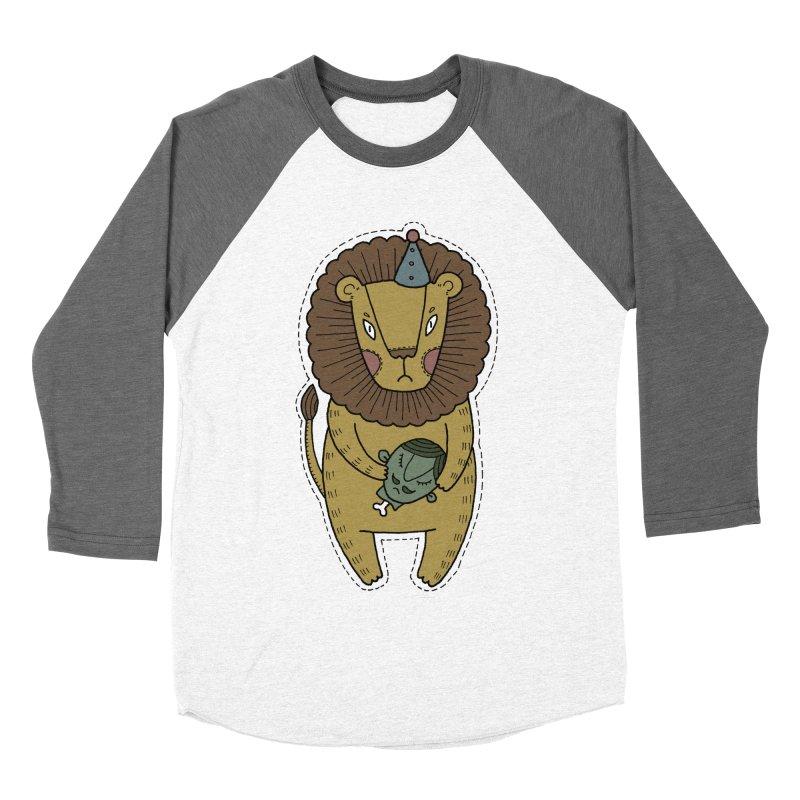 Circus Lion Men's Baseball Triblend Longsleeve T-Shirt by Crazy Pangolin's Artist Shop