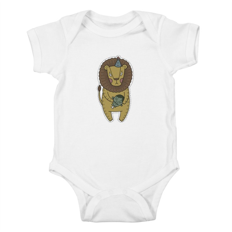 Circus Lion Kids Baby Bodysuit by Crazy Pangolin's Artist Shop
