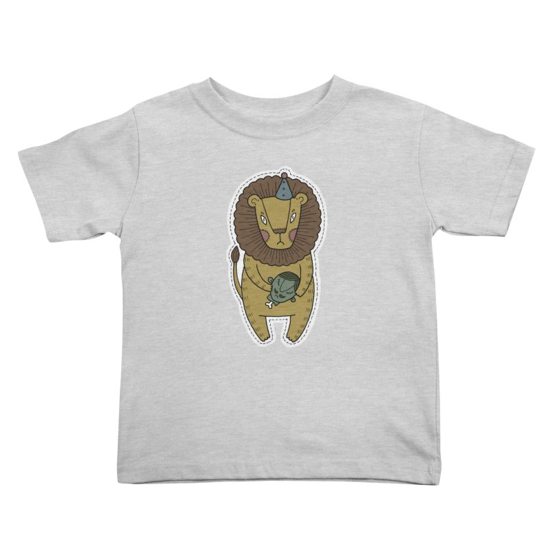 Circus Lion Kids Toddler T-Shirt by Crazy Pangolin's Artist Shop