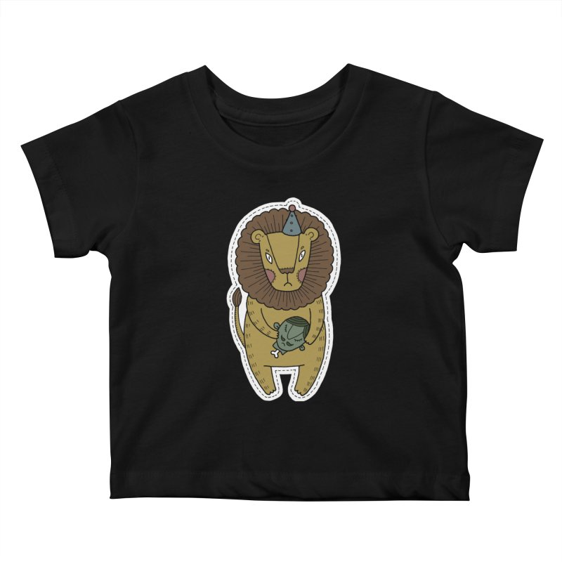 Circus Lion Kids Baby T-Shirt by Crazy Pangolin's Artist Shop