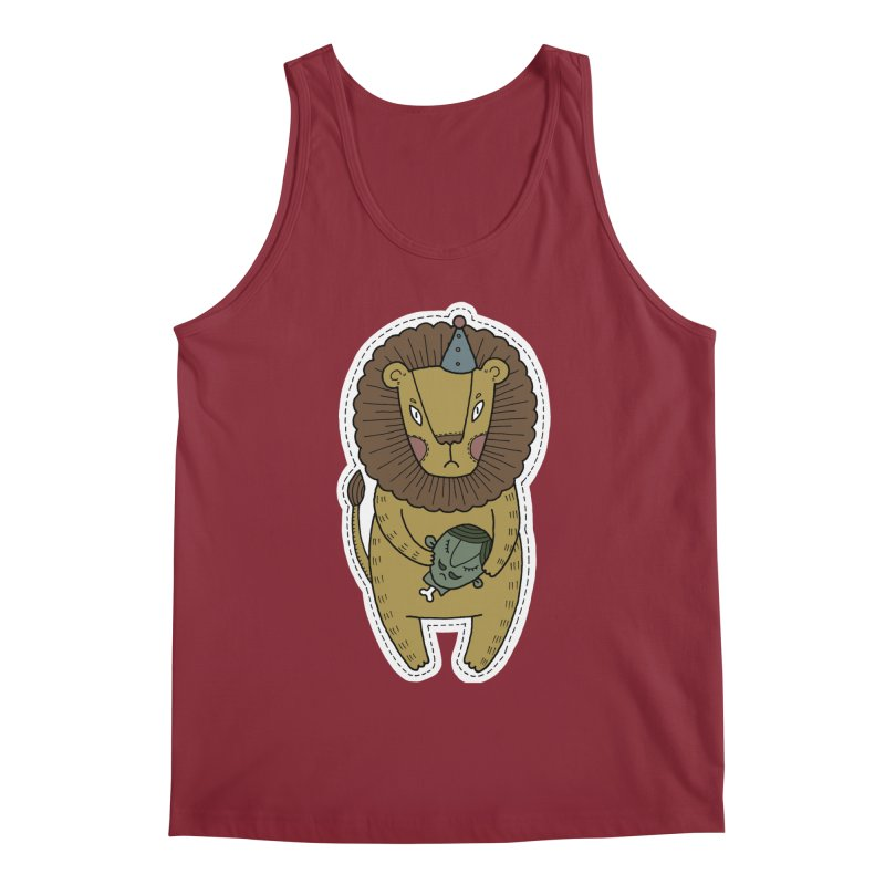 Circus Lion Men's Regular Tank by Crazy Pangolin's Artist Shop