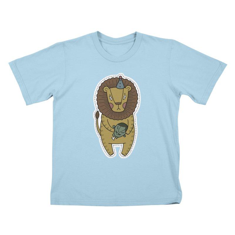 Circus Lion Kids T-Shirt by Crazy Pangolin's Artist Shop