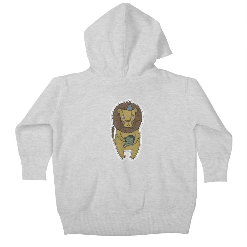 Circus Lion Kids Baby Zip-Up Hoody by Crazy Pangolin's Artist Shop