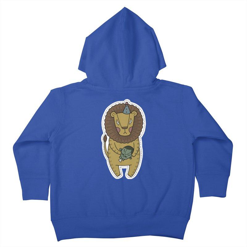 Circus Lion Kids Toddler Zip-Up Hoody by Crazy Pangolin's Artist Shop