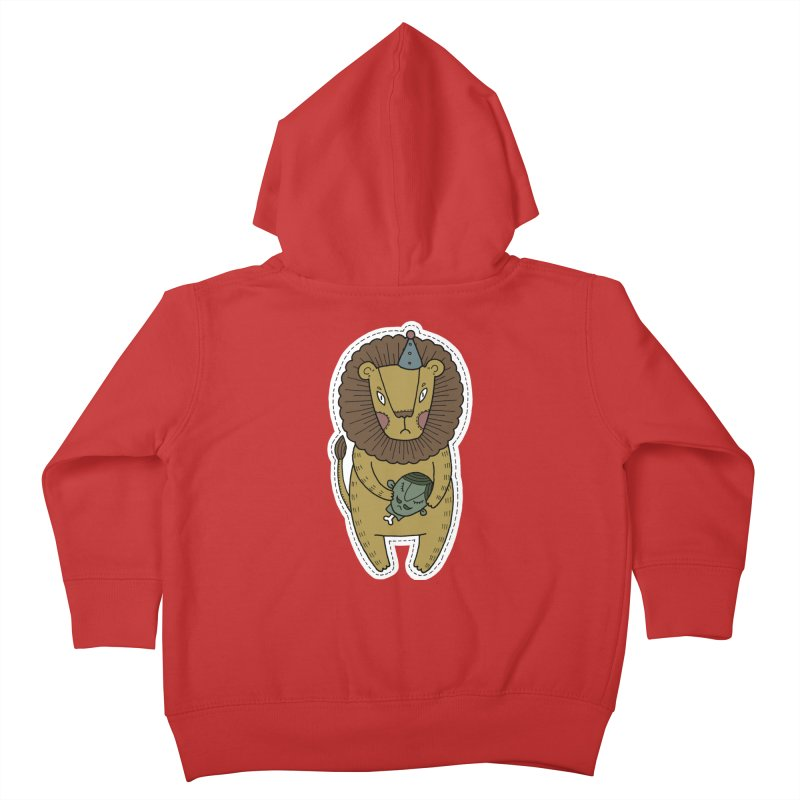Circus Lion Kids Toddler Zip-Up Hoody by Crazy Pangolin's Artist Shop