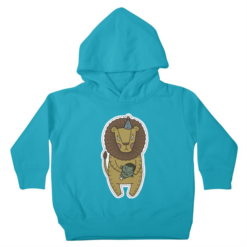 Circus Lion Kids Toddler Pullover Hoody by Crazy Pangolin's Artist Shop