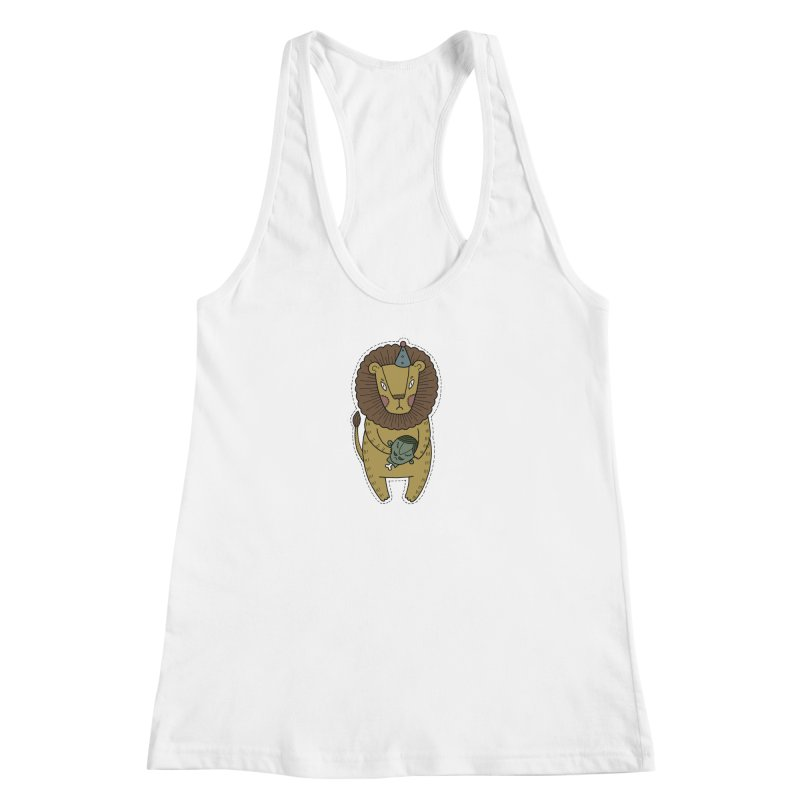 Circus Lion Women's Racerback Tank by Crazy Pangolin's Artist Shop