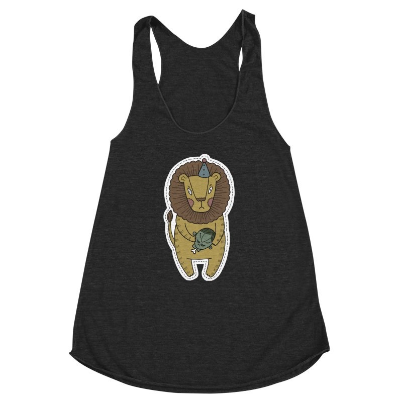 Circus Lion Women's Racerback Triblend Tank by Crazy Pangolin's Artist Shop