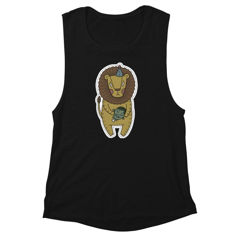 Circus Lion Women's Muscle Tank by Crazy Pangolin's Artist Shop