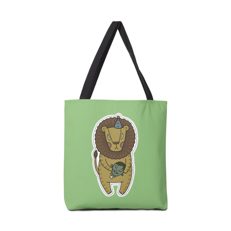 Circus Lion Accessories Tote Bag Bag by Crazy Pangolin's Artist Shop