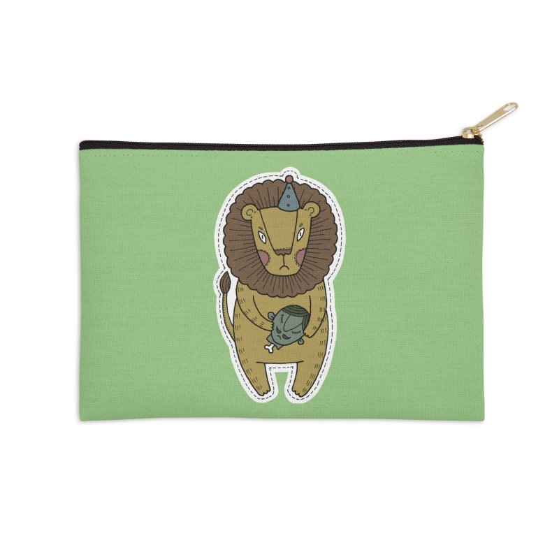 Circus Lion Accessories Zip Pouch by Crazy Pangolin's Artist Shop