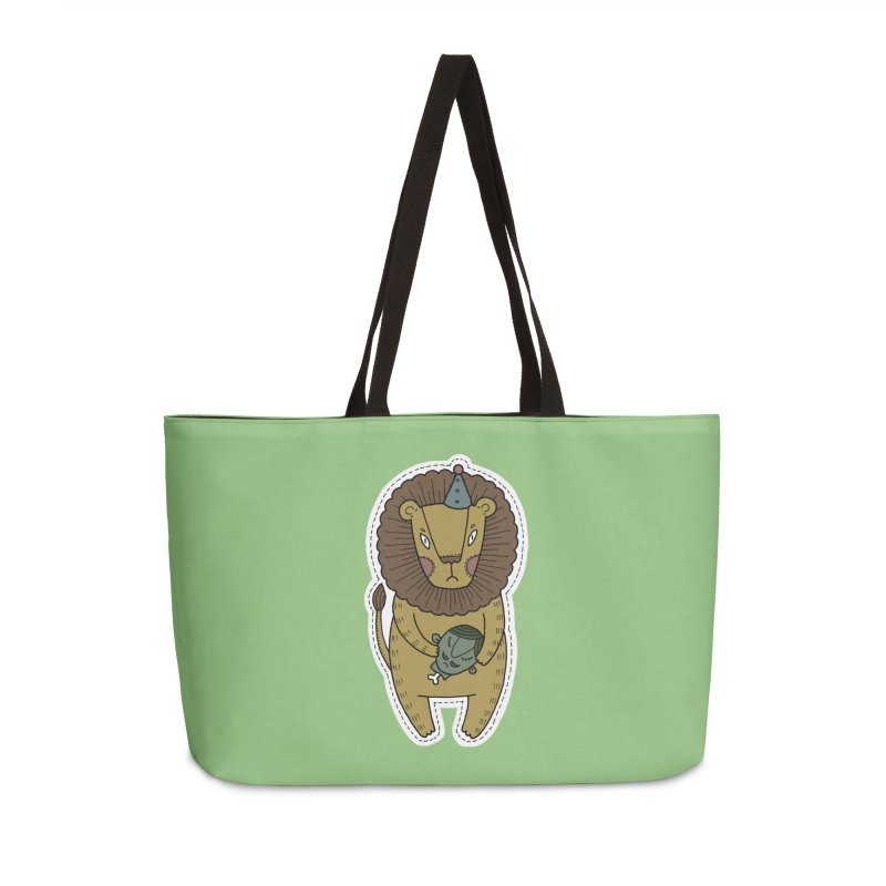 Circus Lion Accessories Weekender Bag Bag by Crazy Pangolin's Artist Shop