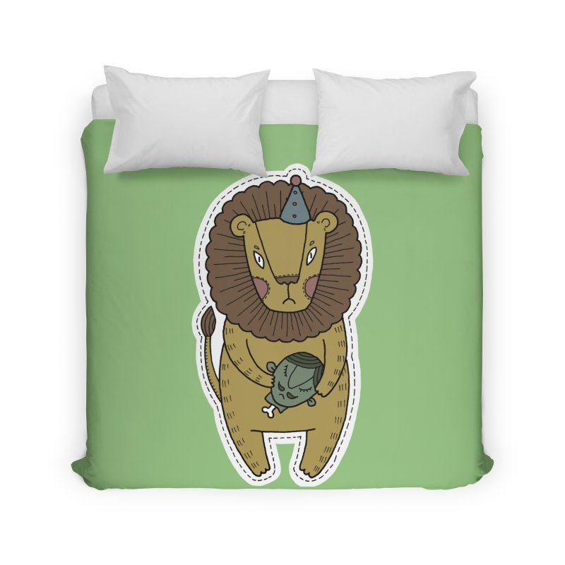 Circus Lion Home Duvet by Crazy Pangolin's Artist Shop