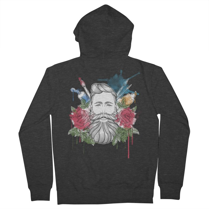 Artist Men's French Terry Zip-Up Hoody by Crazy Pangolin's Artist Shop
