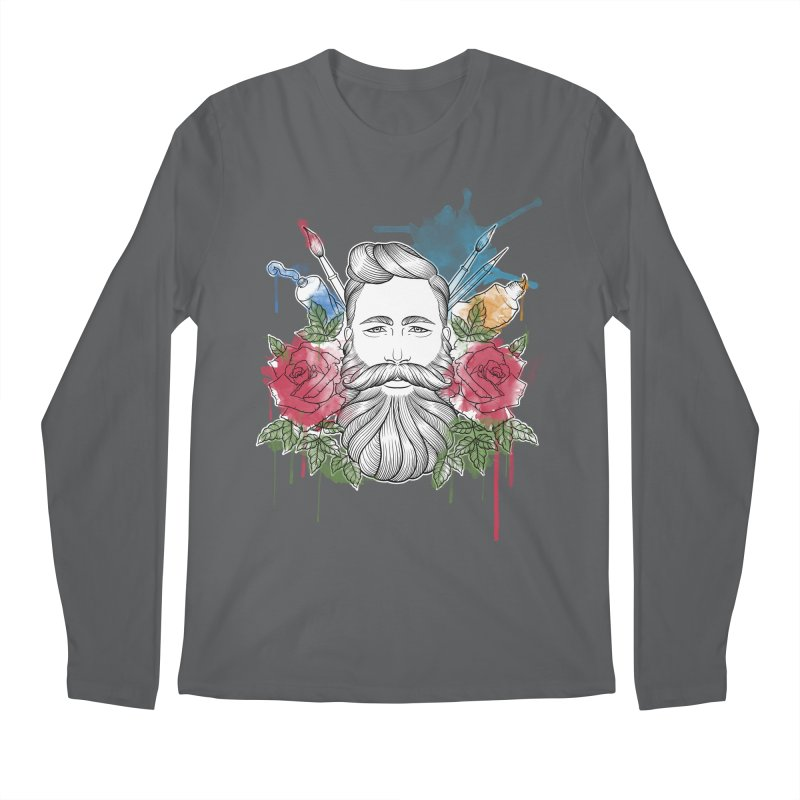Artist Men's Regular Longsleeve T-Shirt by Crazy Pangolin's Artist Shop