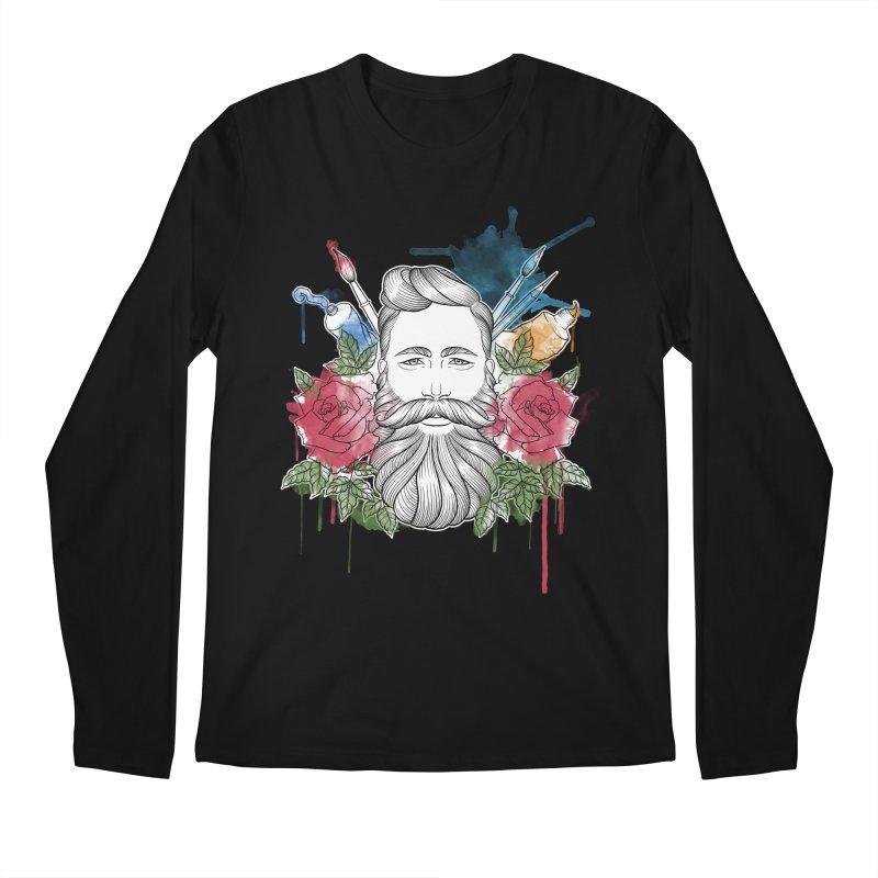 Artist Men's Regular Longsleeve T-Shirt by Crazy Pangolin's Artist Shop