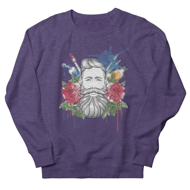 Artist Men's French Terry Sweatshirt by Crazy Pangolin's Artist Shop