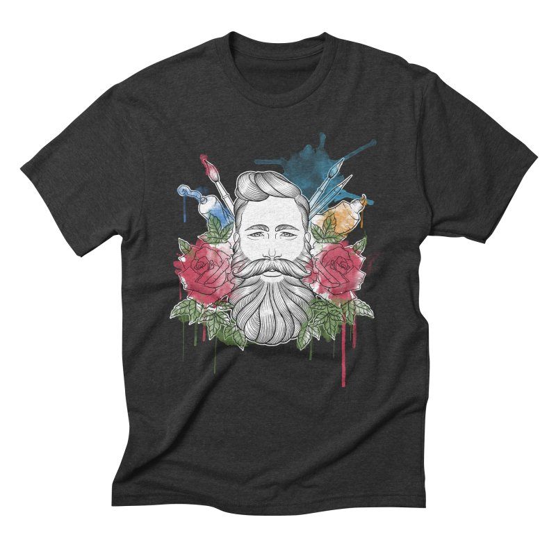 Artist Men's Triblend T-Shirt by Crazy Pangolin's Artist Shop