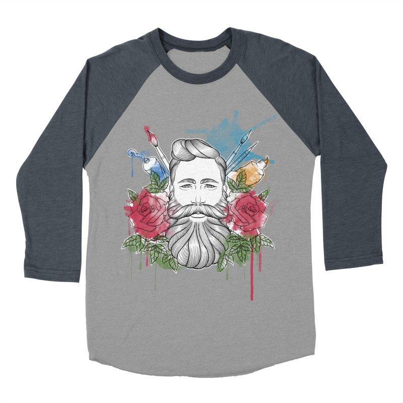 Artist Men's Baseball Triblend Longsleeve T-Shirt by Crazy Pangolin's Artist Shop